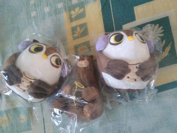 Плюшените играчки от Милка, мама Меца и совата Берти