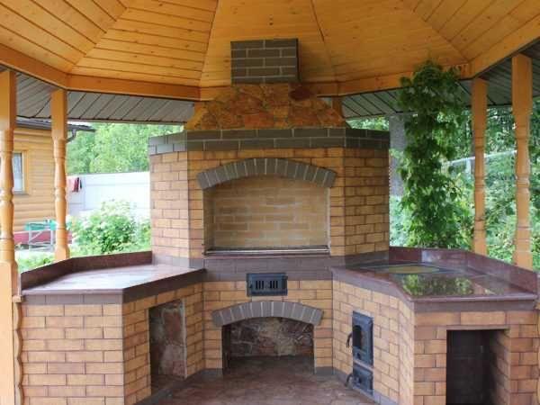 Столешница гранитная для летней кухни (казан, мангал, раковина)