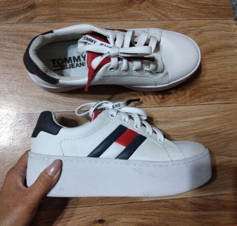 Модные кроссовки Tommy Hilfiger оригинал кожаные