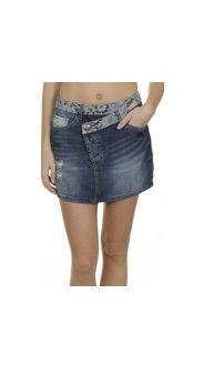 DESIGUAL Superba Fusta Mini Faldo Jeans Denim Blue Original