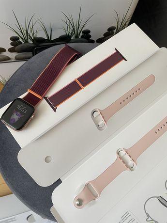 Apple Watch Series 6, 44mm Gold Aluminium Case, Pink Sand Sport Band