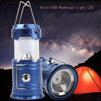 lanterna + felinar solar si incarcare la priza bun pentru camping