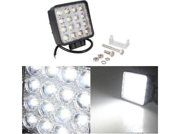 Proiectoare LED Auto Offroad Patrate 48W Proiector SUV Camion Utilaje