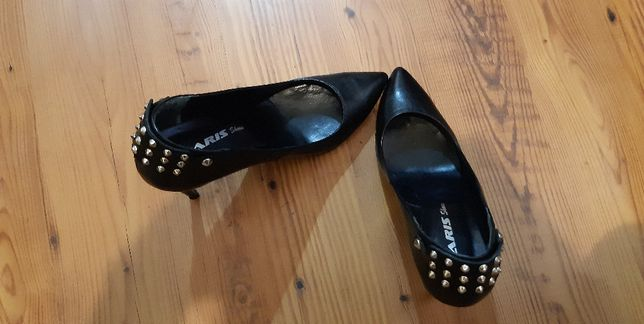 pantofi din piele naturala cu tinte, daris shoes, doamne domnisoare