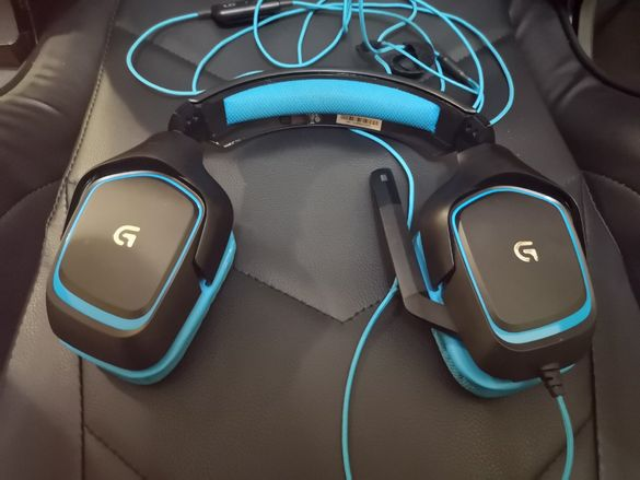 Гейминг слушалки Logitech G430 - 7.1 Surround, сини