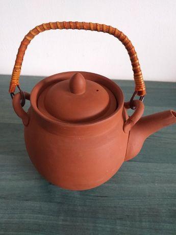 Ceainic din ceramica cu recipient pentru plante