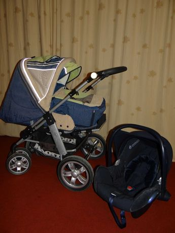 Carucior copii Knorr cu landou + sport+ scoica Maxi Cosi, roti mari