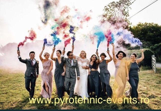 Fumigene colorate pentru sedinte foto nunta party evenimente