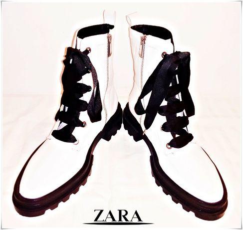 Ghete Zara tip bocanc, piele naturală - Extrem de frumoase!