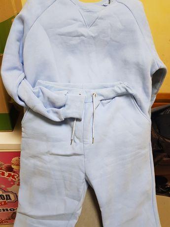 Голубой тёплый костюмчик
