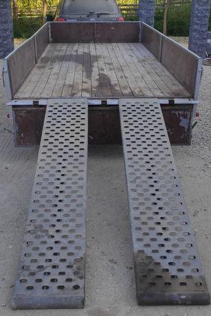 Remorcă platformă auto BARTHAU 2500 kg troliu cale prelată transport