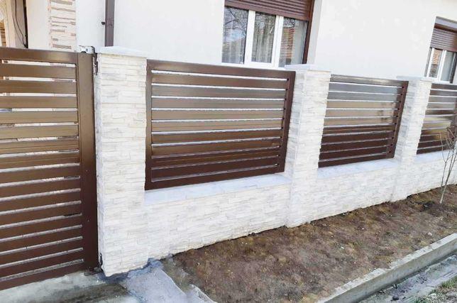 Garduri stil jaluzea, fier forjat, sipca metalica, BCA, plasa, placi