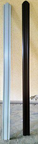Vând sipca metalica gard,maro, 1,7m lungime