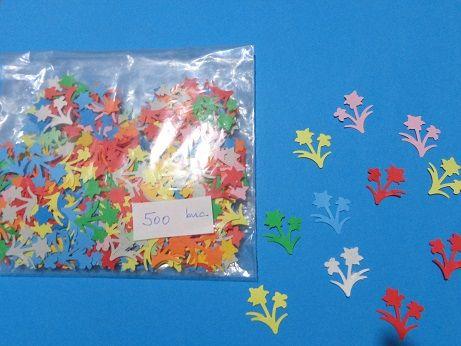 Floare decupata din hartie, model #4, 25mm, 500 buc/pachet
