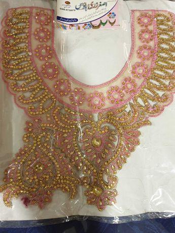 Set accesori brodate, cu pietre pentru rochie, sau bluza