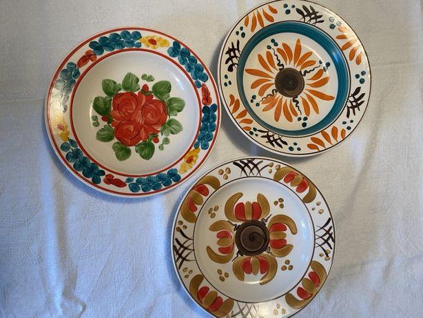 3 Farfurii ceramica cu diametru de 23 cm