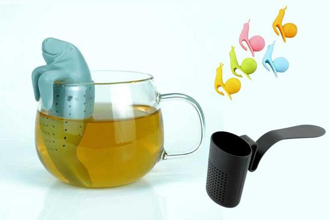 Accesorii ceai: infuzor lamantin + sita + 5 agatatoare melc