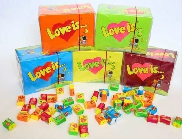 Жвачки love is... все вкусы