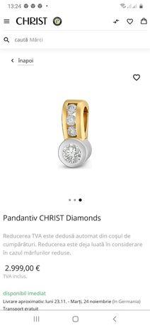 Pandantiv christ cu diamante naturale