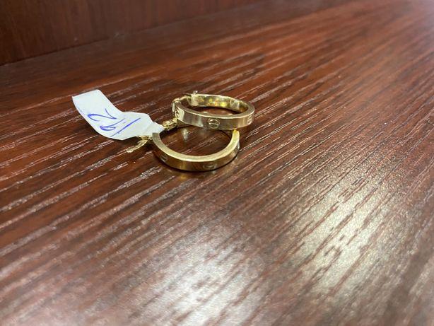 Новые золотые серьги «Картье» итальянское, желтое золото