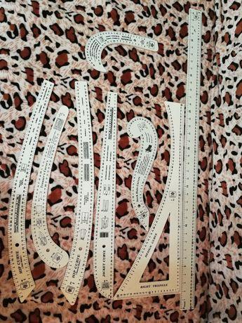 Set rigle/liniare croitorie cu 8 piese