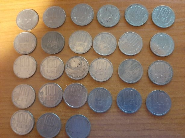 Lot 27 monede de 100 lei ani diferiti