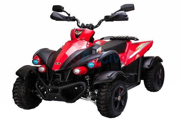 ATV EVA - Quad electric pentru copii 2x 45W 12V #Rosu