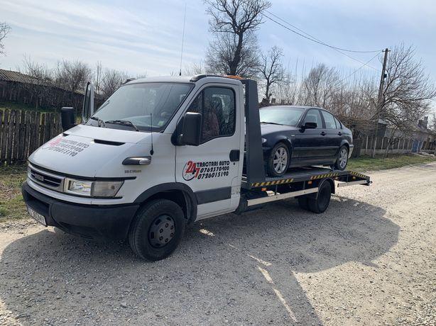 Tractai auto Craiova non-stop/platfoarma/carotret/auto platforma