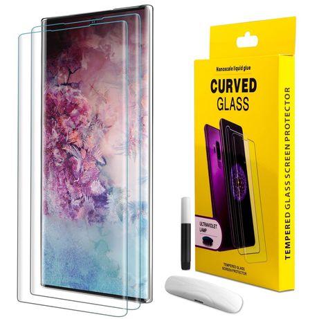 Samsung S10e S10 S10+ Note 8 9 10 10+ Folie Sticla Curbata UV + Lampa