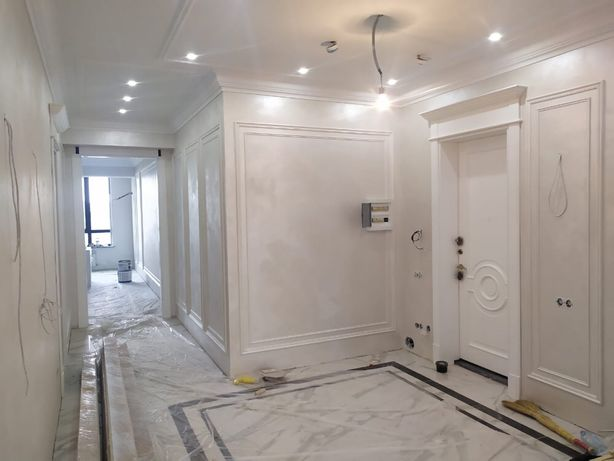 Ремонт квартир,декор штукатурка,покраска,обои,укладка ламината,леонард