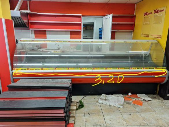 "Щандова хладилна витрина ""Наги"" 3.20м"