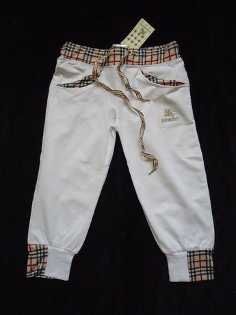 Pantaloni dama albi negri vara sport casual bermude trei sferturi