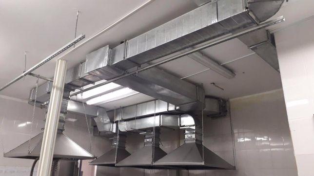 Монтаж и изготовления вентиляции и изготовление искрогасителей