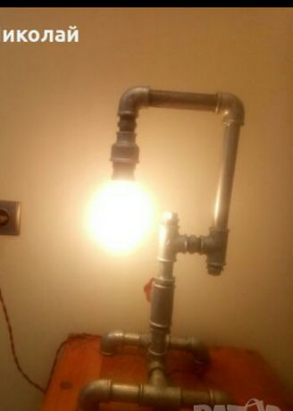 Лампа от водопроводни тръби