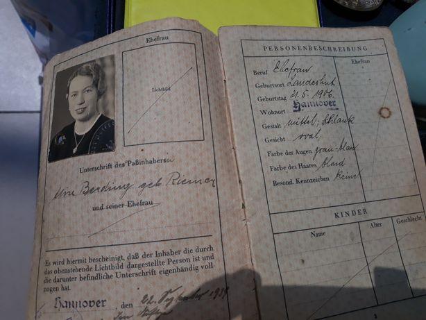 Reisepass .nazi.ss.deutsches reich 1939 .stampila svastica /zvastica