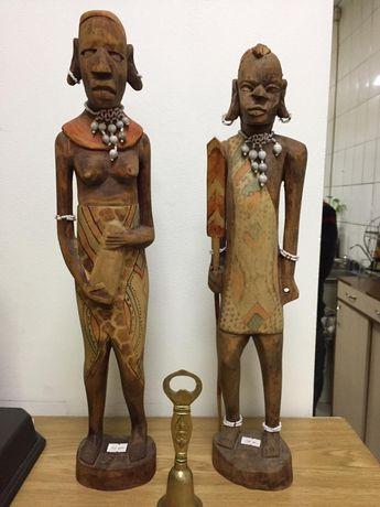 Африканские статуи деревянные высокие. Доставка по городу