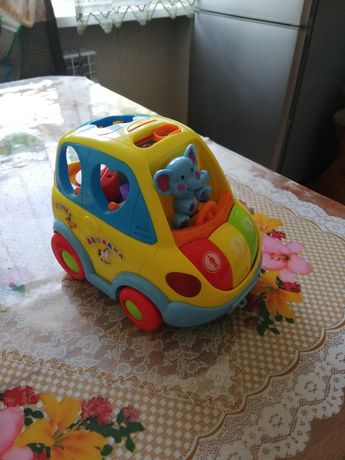 Машинка музыкальная и человек паук