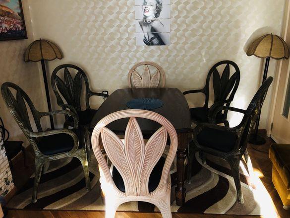 Трапезни ратанови столове 6 бр.