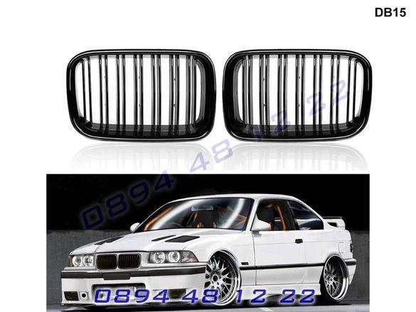 Двойни M Бъбреци Решетки BMW E36 БМВ Е36 92-96 Черен Гланц М