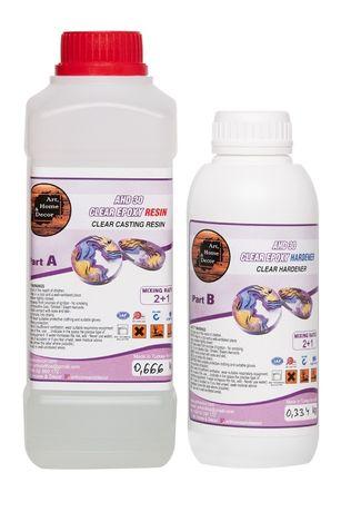 Висококачествена епоксидна смола за бижута-AHD30 Ultra Clear Epoxy