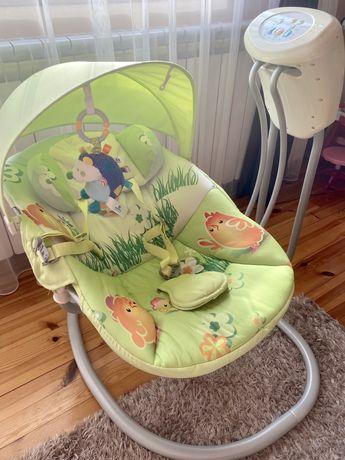 Електрическа бебешка люлка-шезлонг Chipolino