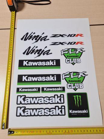 REDUCERE Stickere Kawasaki A3 sticker moto honda ninja yamaha