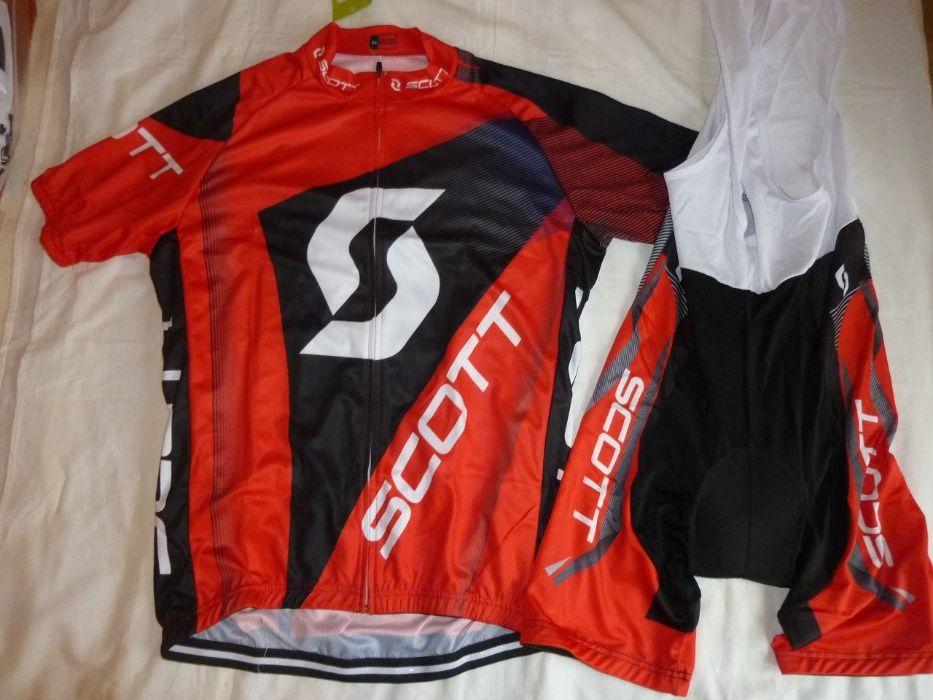Echipament ciclism SCOTT rc rosu set pantaloni tricou Iasi - imagine 1