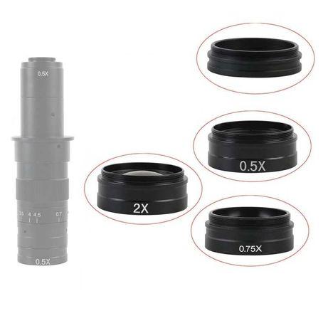 Lentila barlow 0.5X 0.75X 1X 2X pentru Video Microscop