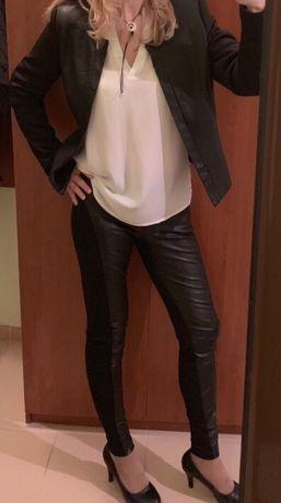 НОВ панталон с кожени елементи и  сако кожа на Резървд