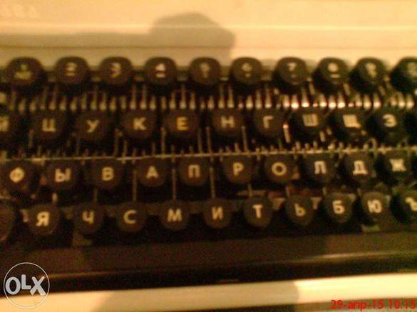пишеща машина портативна кирилица с руски стандарт на клавиши
