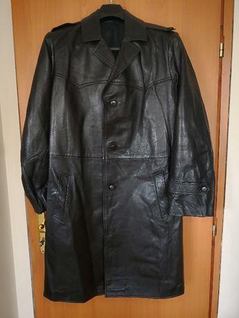 Палто естествена кожа, мъжко, черен цвят.Мъжко манто ест. кожа, ч