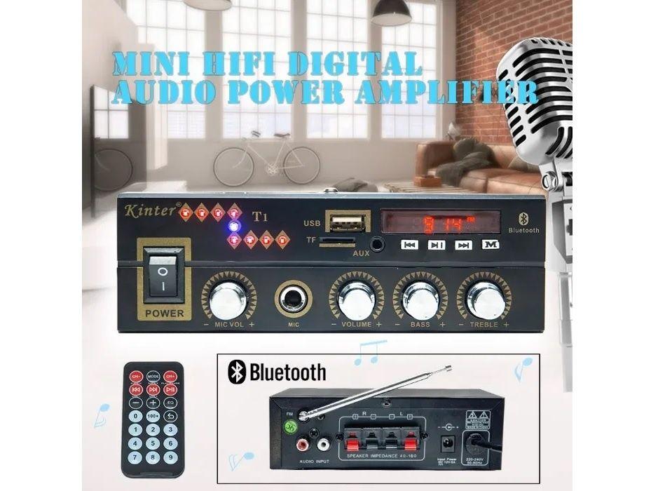 NOU Mini Statie Amplificare Audio Bluetooth Radio USB Card SD Auto