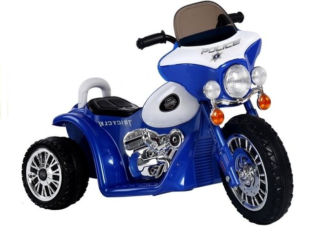 Motocicleta electrica pentru copii POLICE JT568 35W STANDARD #Albastru