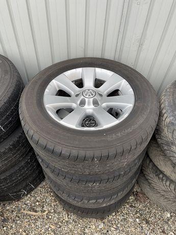 Jante aliaj Vw  215 65 r16 +anvelope Dunlop vara dot 2017